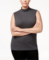 Karen Scott Plus Size Mock-Neck Top, Only at Macy's
