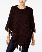 Style&Co. Style & Co. Boat-Neck Fringe Poncho, Only at Macy's