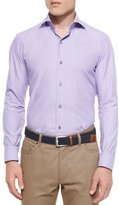 Ermenegildo Zegna Solid Chambray Sport Shirt, Purple