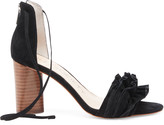 Sole Society Women's Tevony Ruffle & Lace Up Sandals Black Size 5 Suede From