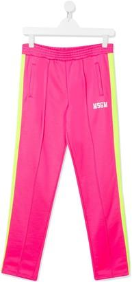 Msgm Kids Vibrant Track Pants
