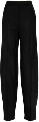 ATTICO Wool Gabardine Loose Fit Pants