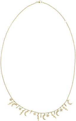 Andrea Fohrman 14kt yellow gold diamond Element necklace