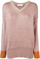 Giada Benincasa - lurex V-neck sweater - women - Polyester/Viscose - S