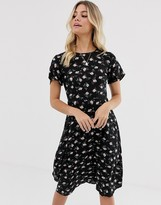 Daisy Street midi dress with tie back detail in floral