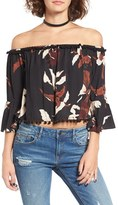 Tularosa Women's 'Alexa' Bandana Print Off The Shoulder Top