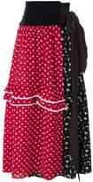Marni high waisted belted skirt