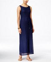 Sandra Darren Sleeveless Crocheted Maxi Dress