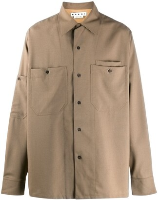 Marni Pressed Tropical Wool Shirt