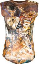 Balmain Wolf print distressed T-shirt