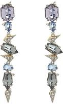 Alexis Bittar Crystal Encrusted Mosaic Lace Dangling Post w/ Fancy Cut Stones Earrings