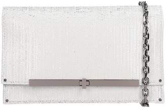 Casadei Fish Mooney Clutch In White Leather