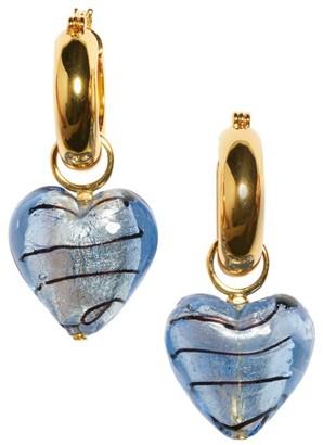 Lizzie Fortunato Infatuation 18K Goldplated & Glass Star Charm Hoop Earrings