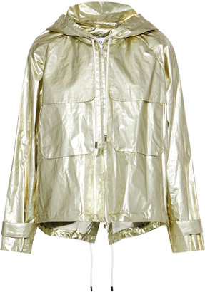 Derek Lam 10 Crosby Metallic Shell Hooded Jacket