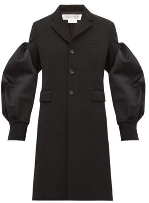 Comme des Garcons Balloon-sleeve Single-breasted Wool Coat - Womens - Black