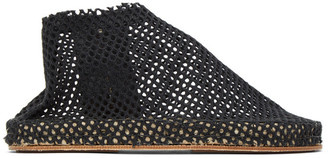 Cherevichkiotvichki SSENSE Exclusive Black Woven Slippers