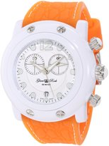 Glam Rock Women's Miami Beach 46mm Orange Silicone Band Polycarbonate Case Quartz Dial Watch GK1139