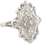 Ring 14K Diamond Filigree