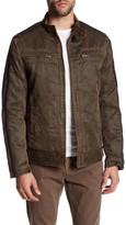 Rogue Faux Fur Lined Antique Moto Jacket