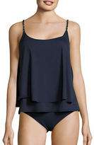 Michael Kors Chain Link Layered Tankini Swim Top