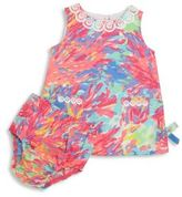 Lilly Pulitzer Baby's Painterly Dress & Bloomer Set