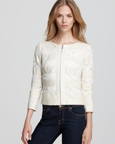 Erin Fetherston ERIN Jacket - Perforated Leather & Lace
