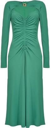 Pinko Ruched-Detail Midi Dress