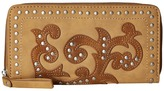 American West Shady Cove Zip Around Wallet Wallet Handbags