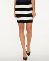Le Château Stripe Viscose Blend Skirt