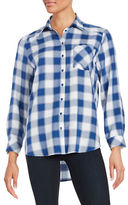 Kensie Monochrome Check Button-Front Shirt