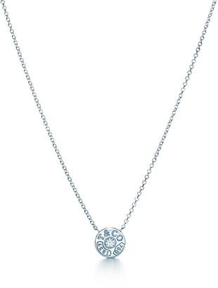 Tiffany & Co. 1837TM circle pendant in 18k white gold with diamonds