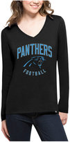 '47 Women's Carolina Panthers Splitter Arch Long-Sleeve T-Shirt