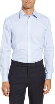 Ted Baker Moushld Trim Fit Geometric Dress Shirt