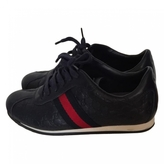 Gucci Navy Leather Trainers