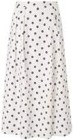 LK Bennett Octavia White Spot Print Skirt