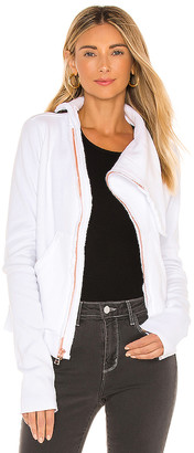 Frank And Eileen Asymmetric Zip Fleece Jacket