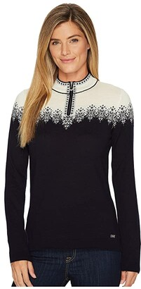 Dale of Norway Snefrid Sweater (C-Navy/Off-White) Women's Sweater