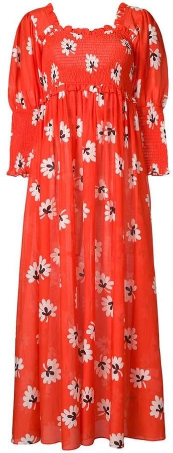 Ganni floral print maxi dress