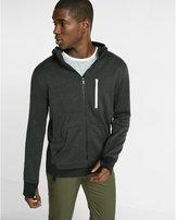Express fleece zip front hoodie
