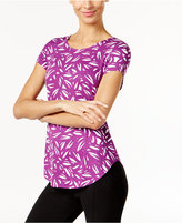 Alfani Petite Printed Shirttail-Hem Top, Only at Macy's
