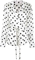 Bambah envelope polka dot blouse