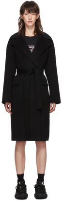 Kenzo Black Belted Cocoon Coat