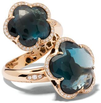 Pasquale Bruni 18kt rose gold diamond topaz Bon Ton ring