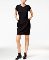 Maison Jules Belted Short-Sleeve Dress, Only at Macy's