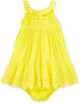 Ralph Lauren Lace-Trimmed Dress & Bloomer