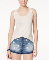 Rebellious One Juniors' Crochet-Back Tank Top