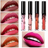 Women Professional Make-up Lip Glosses Colorful Lipstick Long-lasting Red for Girls by TOPUNDER A