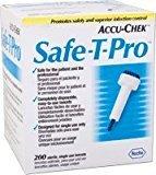 Roche Accu-Chek Safe-T-Pro Lancets 23G, 200/Box