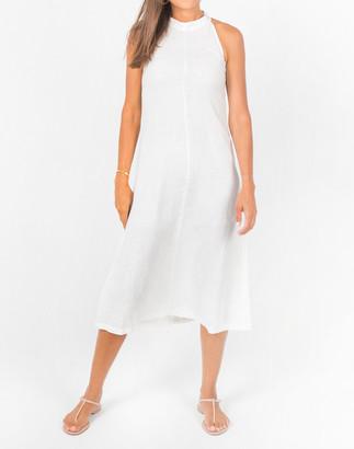 Madewell Lanhtropy Linen Olivia Halter Midi Dress