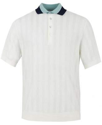 Paul Smith Knit Cotton Contrast Collar Polo Shirt Colour: CRE